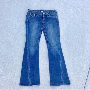 TRUE RELIGION flare LEG denim jeans Joey twist 30